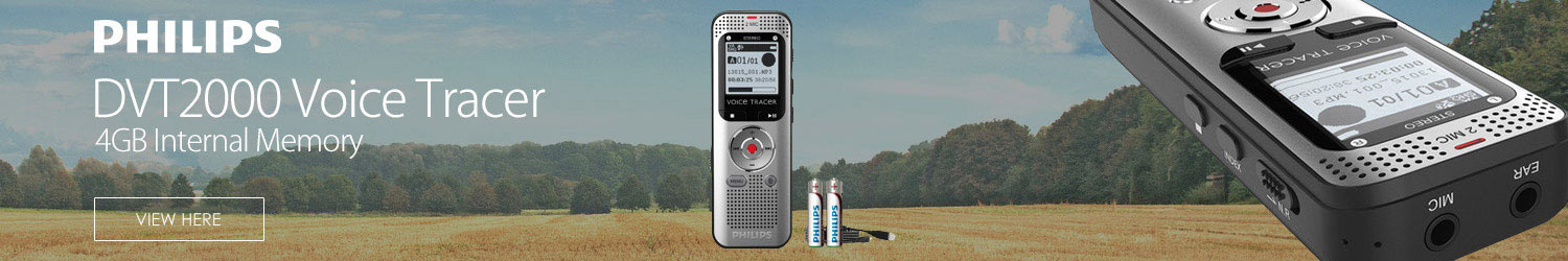 Philips Voice Tracer Recorder DVT2000 4GB Internal Memory