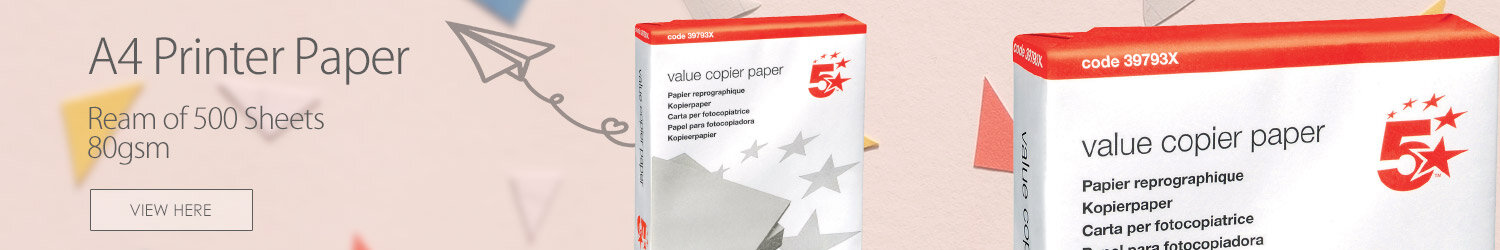 5 Star Multifunctional Printer Paper A4 80gsm White 500 Sheets