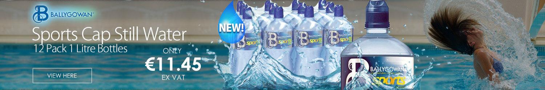 Ballygowan Natural Mineral Water Still Water Sports Cap Bottles 1L Pack of 12 LB00032