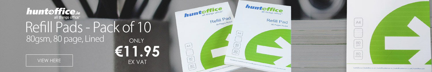 A4 Refill Pad Headbound 4 Hole Punched 80 Sheets Pack 10 HuntOffice