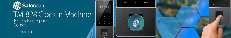 Safescan TimeMoto TM-828 Time Attendance System 3.5\\\'\\\' TFT Colour Display RFID & Fingerprint Sensor Clock In Machine