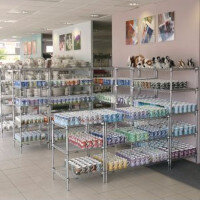 Quick Adjustment Chrome Wire Shelving System