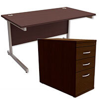 Straight Office Desk & Pedestal Bundles