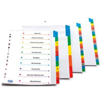 Subject Dividers & Indexes