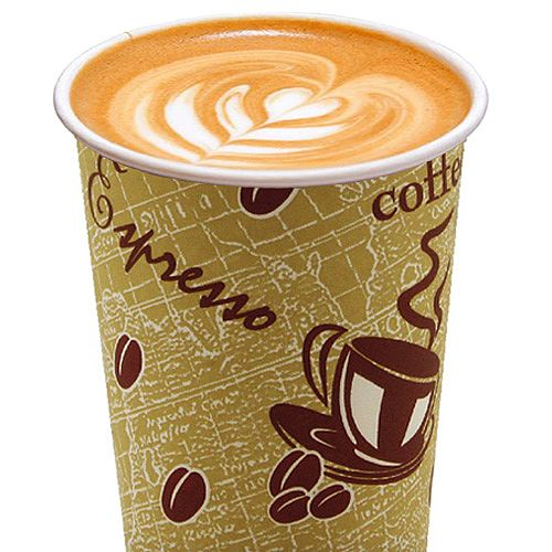 4Aces Double Wall 12oz/350ml Red Bean Paper Cups for Hot Drinks (Pack of 500) AS55661 Additional Image 1