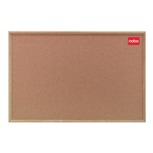 Nobo Natural Oak Finish Cork Notice Board 1200 x 900mm Additional Image 1
