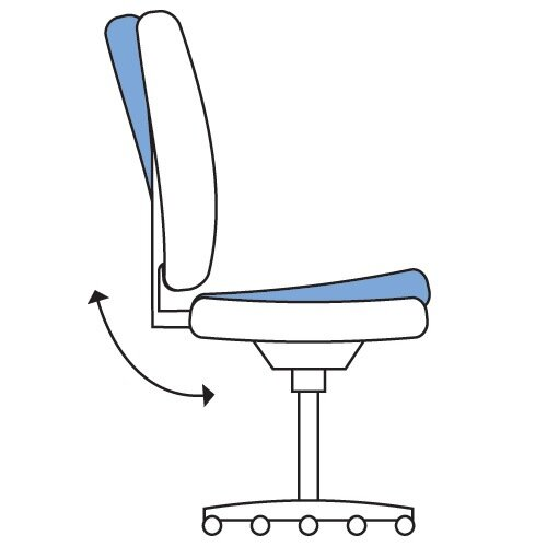 Executive High Back Mesh OP Office Chair White Frame - Stylish Design & Great Comfort - 2 Year Warranty Additional Image 5
