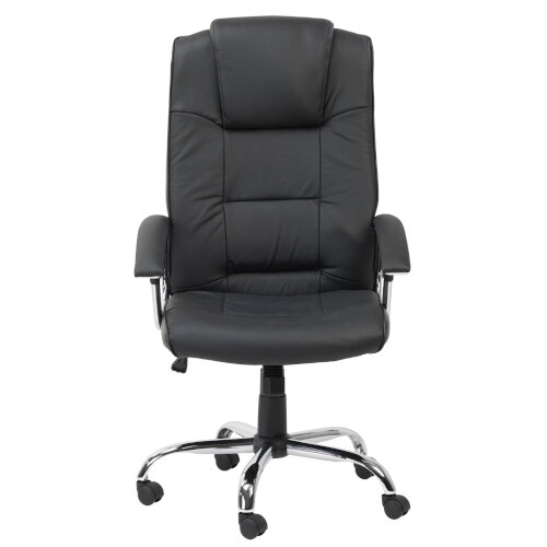Alphason Houston Executive Chair Leather High Back Black - Weight Tolerance: 114kg Additional Image 2