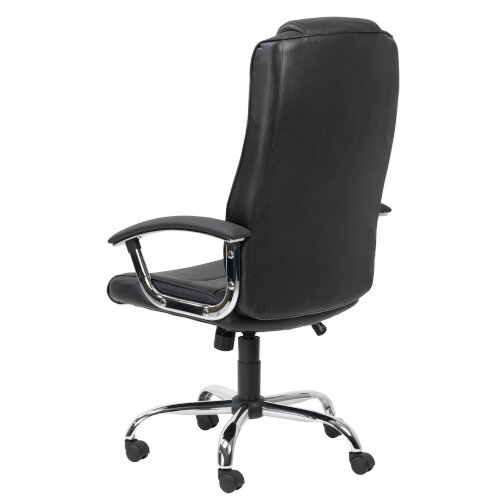 Alphason Houston Executive Chair Leather High Back Black - Weight Tolerance: 114kg Additional Image 3