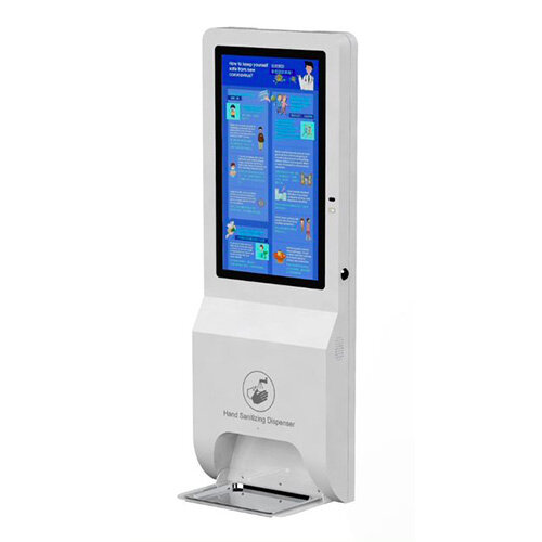 Automatic Hand Sanitiser Dispenser integrated With a 21.5 LCD Full HD Screen - Wall Mounted or Free Standing