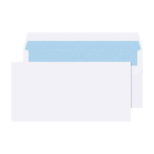 5 Star Office White DL Envelopes Self Seal Wallet 80gsm Pack of 1000 Additional Image 2