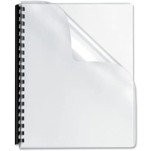 Fellowes Apex Clear Lightweight PVC A4 Covers Pack of 100 6500001 at HuntOffice.ie