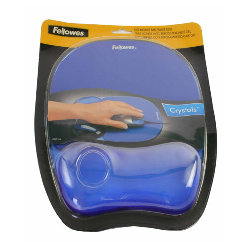 Fellowes Crystal Gel Mouse Pad Blue Ref 9114106