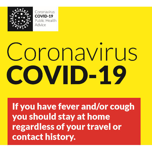Covid-19 Public Health Advice  Pop Up Sign 850x200mm