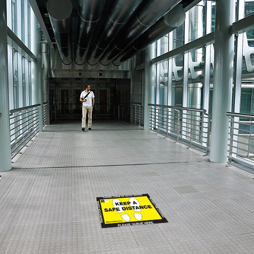 Safe Distance Public Health Floor Sign 450x 300mm Additional Image 2