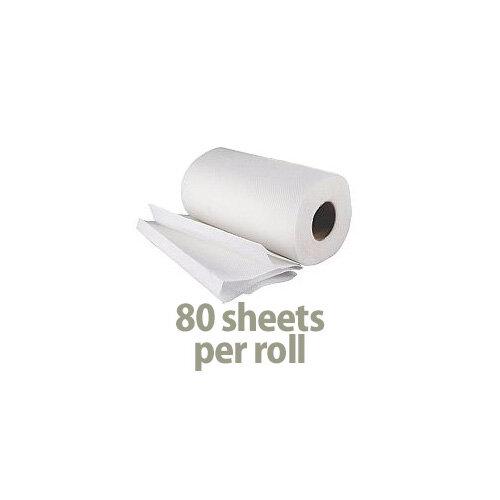 2Work Kitchen Paper Tissue Towel Rolls Pack of 12x2 (24 Kitchen Rolls in Total) CT73665