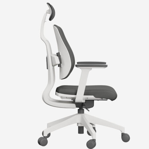 Duorest 2.0 Ergonomic Office Chair with Adjustable Curved Headrest Grey Additional Image 1