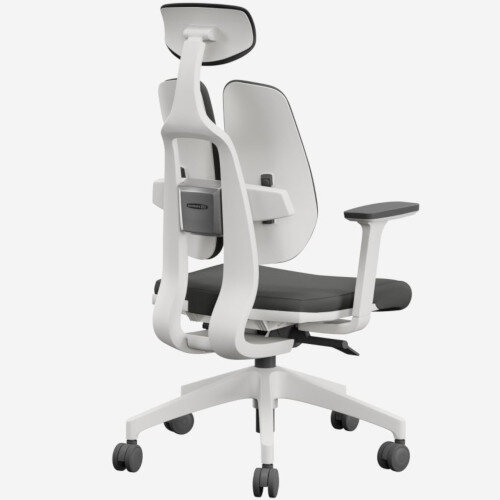 Duorest 2.0 Ergonomic Office Chair with Adjustable Curved Headrest Grey Additional Image 2