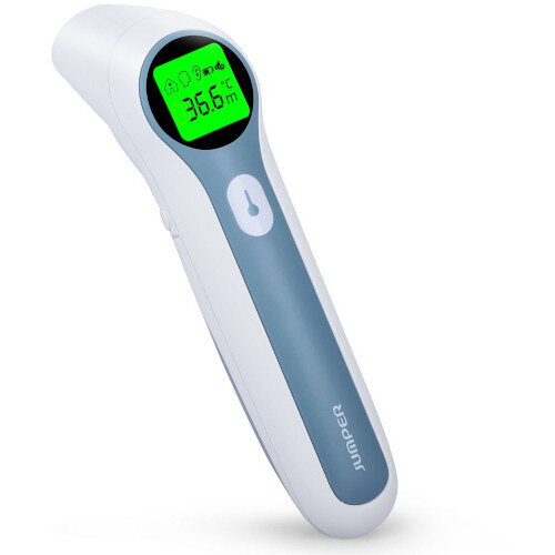 Jumper Medical Dual-Mode Infrared Contactless Thermometer - Forehead And Ear Detection FR412