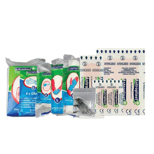 Q-Connect Multi-Purpose First Aid Kit – Caters Up To 10 People, Plastic, Hardwearing, Durable, Wall-Mountable, HSA Approved & Carry Handle (1002451) Additional Image 2