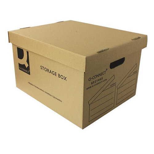 Archive Storage Boxes 335 x 400 x 250mm Q Connect KF21665 10 Pack