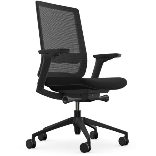 X.55 Posture Office Chair with Mesh Back & Adjustable Lumbar Support Black Additional Image 1