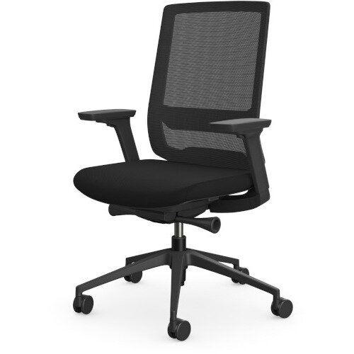 X.55 Posture Office Chair with Mesh Back & Adjustable Lumbar Support Black Additional Image 2