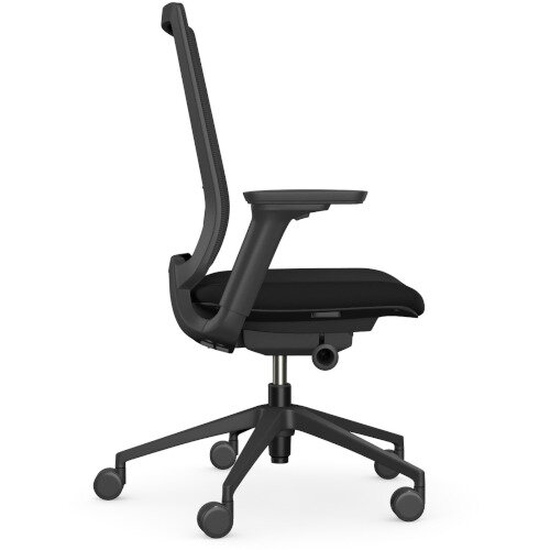 X.55 Posture Office Chair with Mesh Back & Adjustable Lumbar Support Black Additional Image 4