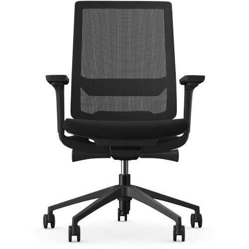 X.55 Posture Office Chair with Mesh Back & Adjustable Lumbar Support Black Additional Image 6