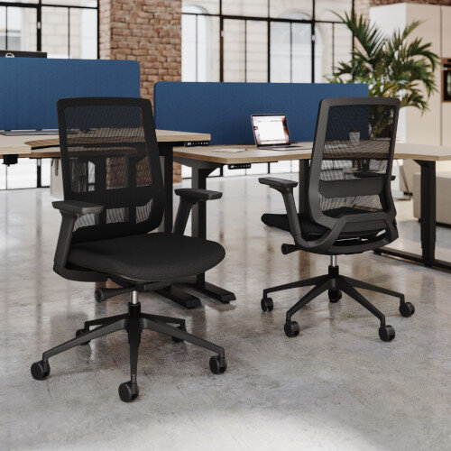 X.55 Posture Office Chair with Mesh Back & Adjustable Lumbar Support Black Additional Image 7