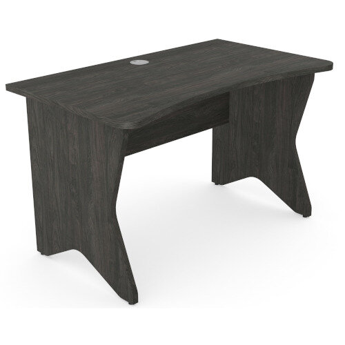 Medici Home Office Desk Carbon Walnut W1200xD700mm Additional Image 2