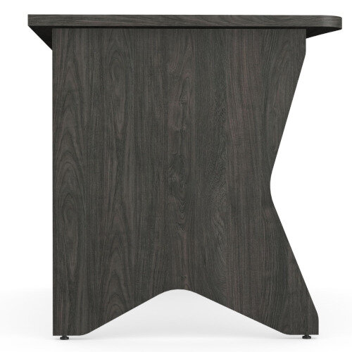 Medici Home Office Desk Carbon Walnut W1200xD700mm Additional Image 5
