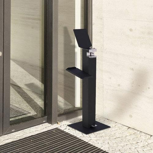Metal Free-Standing Sanitiser Gel Dispenser Anthracite & 5L Fully Approved Ethanol Based Sanitiser Gel Additional Image 1