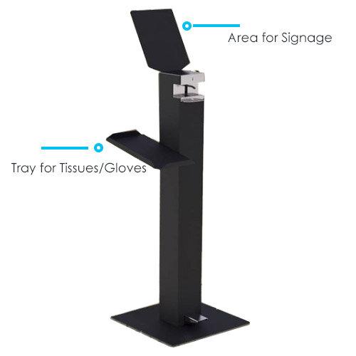 Metal Free-Standing Sanitiser Gel Dispenser Anthracite & 5L Fully Approved Ethanol Based Sanitiser Gel Additional Image 2