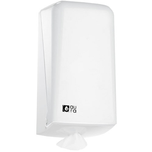 Aura White Centrefeed Hand Towel Dispenser Snow Line for Slim Towel Roll