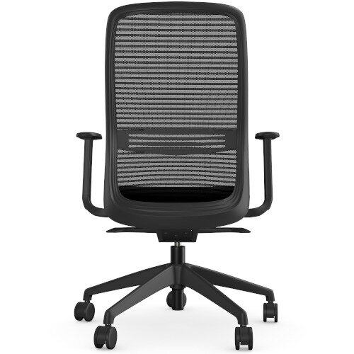 NV Posture Office Chair with Contoured Mesh Back and Adjustable Lumbar Support Black Additional Image 5