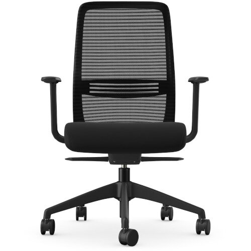 NV Posture Office Chair with Contoured Mesh Back and Adjustable Lumbar Support Black Additional Image 4