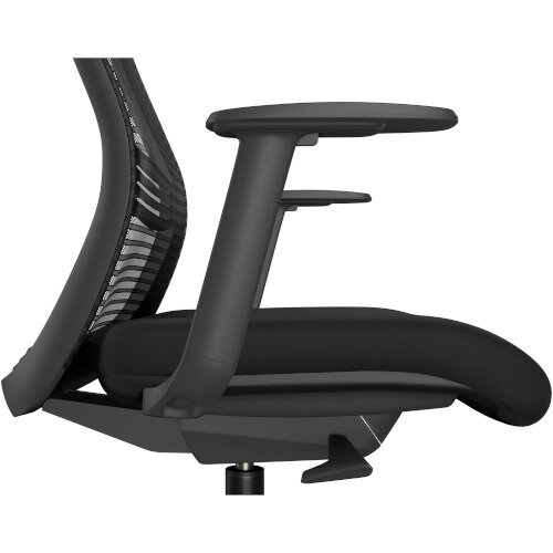 NV Posture Office Chair with Contoured Mesh Back and Adjustable Lumbar Support Black Additional Image 6