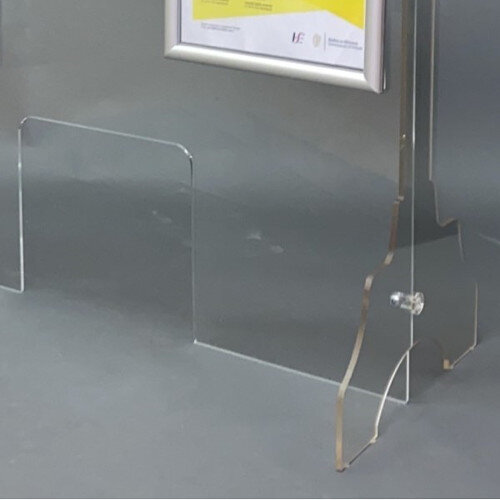 Countertop Protective Screen with Legs 1000mm x 800mm