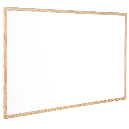 Q-Connect Non Magnetic Whiteboard Wooden Frame