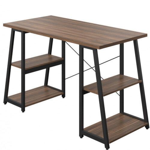 Soho Odell Home Office Desk Walnut Desktop & Black Metal Frame W1200xD600xH770mm Additional Image 1