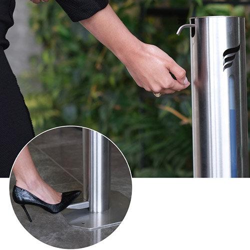 Hygenise Pedal-Operated Hand Sanitiser Dispenser Large & 5L Hand Sanitiser Gel Bundle Offer