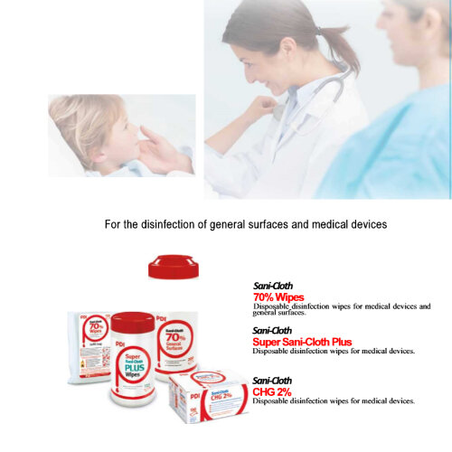 RED Sanicloth 70 Disinfection Wipes 70% Alcohol (200 wipes) Additional Image 2