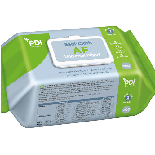 Sanicloth AF Universal Clean & Disinfect Wipes (200 Wipes Per Pack) Pack of 6  Additional Image 1