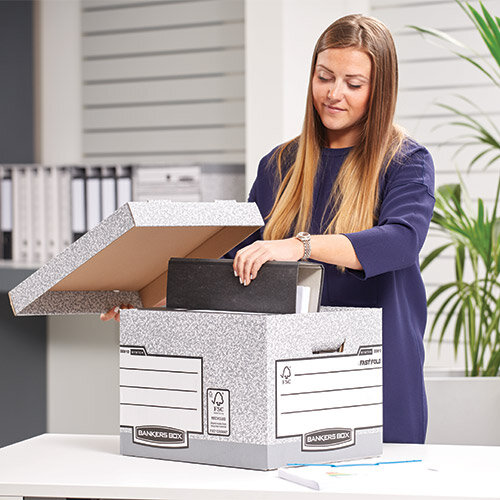 Fellowes Bankers Box Grey & White
