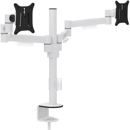 Leap Dual Monitor Arms White