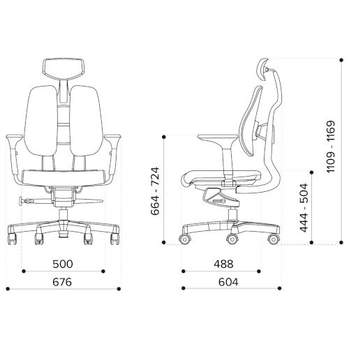 Duorest 2.0 Ergonomic Office Chair with Adjustable Curved Headrest Grey Additional Image 4