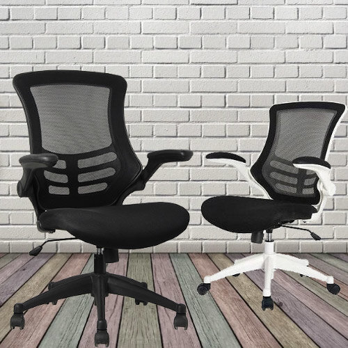 Executive High Back Mesh OP Office Chair White Frame - Stylish Design & Great Comfort - 2 Year Warranty Additional Image 4