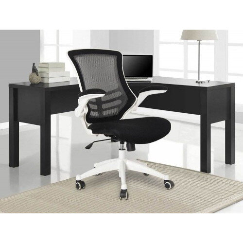 Executive High Back Mesh OP Office Chair White Frame - Stylish Design & Great Comfort - 2 Year Warranty Additional Image 1
