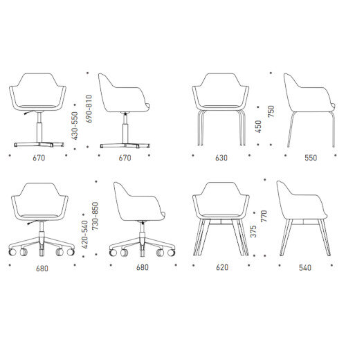 Narbutas DANAE Armchairs Additional Image 2